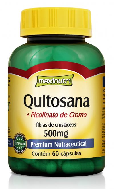 Quitosana + Picolinato de Cromo 60cps - Maxinutri - 60Cps