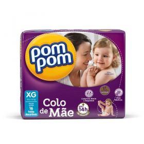Fralda PomPom Colo de Mãe XG 16 unidades