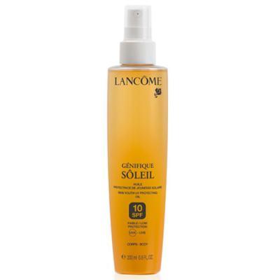 Óleo Bronzeador Lancôme Génifique Sôleil Body Oil Spf 10 - 200ml