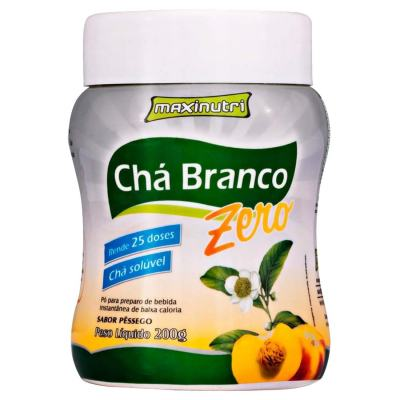 Imagem 1 do produto Chá Branco Solúvel Zero 200g Pêssego - Maxinutri - 200g